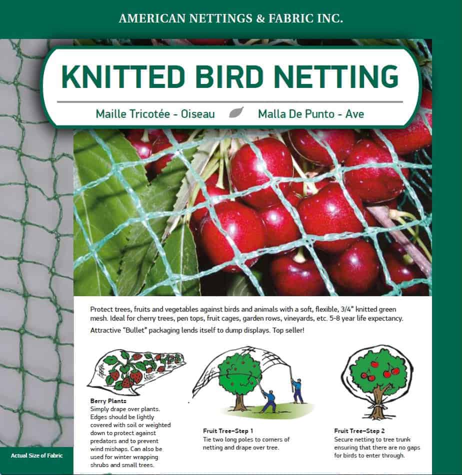 Knitted Bird Netting American Nettings And Fabric