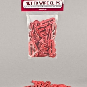Netting Clips Net to Wire Clips