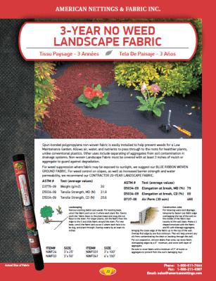 3 Yr Landscape Fabric Catalog