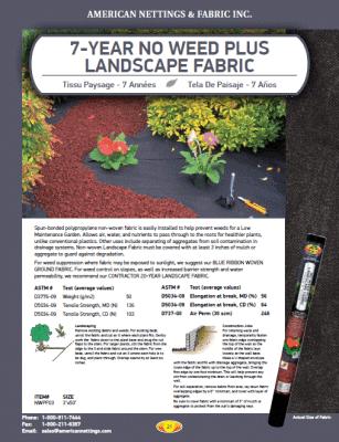 7 Yr Landscape Fabric Catalog