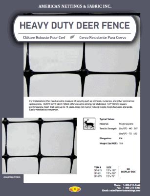 Heavy Duty Deer Fence Catalog