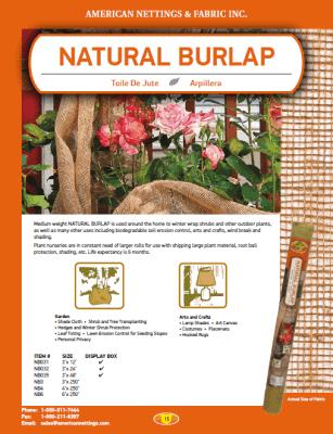Natural Burlap Catalog