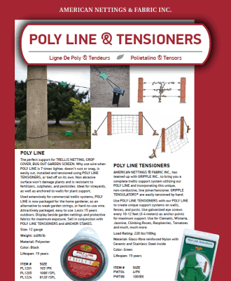 Poly Line Tensioners Catalog