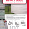 Privacy Shade Cloth Catalog