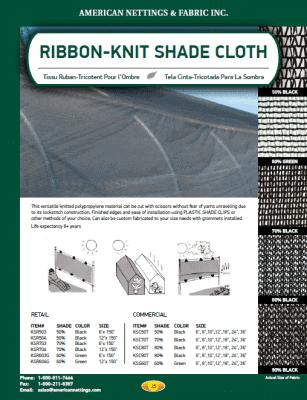 Ribbon-Knit Shade Cloth Catalog