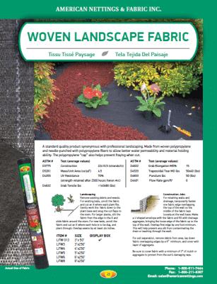 Woven Landscape Fabric Catalog